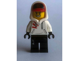 Jack Davids - White Hoodie with Cap and Hood ;Large Smile / Grumpy;, n/a (hs004)