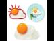Силиконовая форма для яичницы солнышко облако