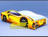 Кровать машина ЛАМБО желтая