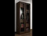 Книжный шкаф две двери с витражом ШкКн(2)№1