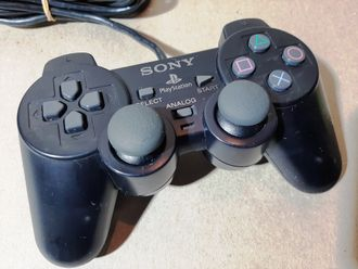 "№005 ""Midnight Black"" Оригинальный SONY Контроллер для PlayStation 2 PS2 DualShock 2"