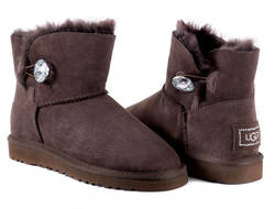 UGG MINI BAILEY BUTTON BLING CHOCOLATE Женские (36-40)