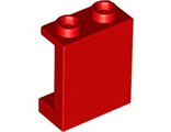 Panel 1 x 2 x 2 with Side Supports - Hollow Studs, Red (87552 / 4570470)