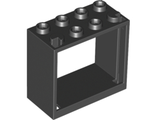Window 2 x 4 x 3 Frame - Hollow Studs, Black (60598 / 6231575)