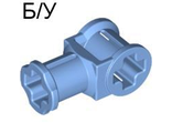 ! Б/У - Technic, Axle Connector with Axle Hole, Medium Blue (32039 / 4172110) - Б/У