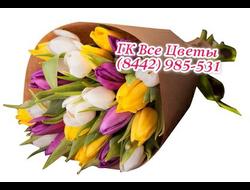 Миксовый букет из 25 Тюльпанов