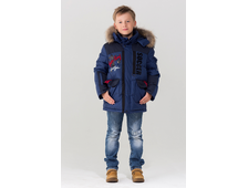 Bilemi куртка из биопуха для мальчиков 516619 (синий фронт)