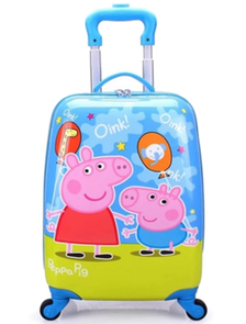 Детский чемодан на 4 колесах Свинка Пеппа / Peppa Pig