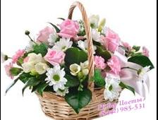 Корзина цветов Нежное поздравление