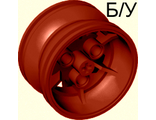 ! Б/У - Wheel 43.2mm D. x 26mm Technic Racing Small, 3 Pin Holes, Dark Red (41896 / 4567431) - Б/У