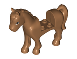 Horse with 2 x 2 Cutout, Medium Nougat Eyes Pattern, Medium Nougat (93083c01pb16 / 6252981)