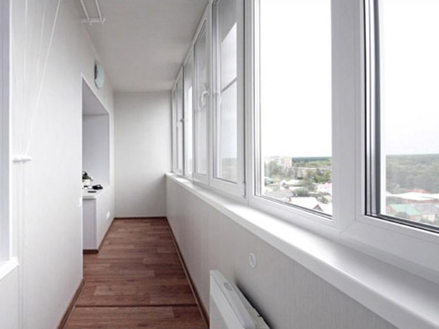 Отделка гипсокартоном балконов и лоджий, окна века.