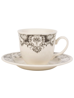 Чайная пара 200493 TEACUP W/SAUCER CLOTHILDE GREY 20CL EARTHENWARE