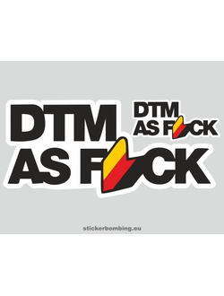 """Dtm as f*ck black"" Car Stickers"