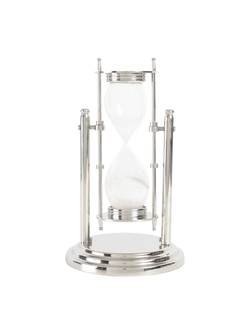 Песочные часы DECORATIVE SANDTIMER BRESCIA NICKEL D13XH23CM ALUарт.31786