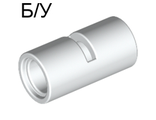 ! Б/У - Technic, Pin Connector Round 2L with Slot Pin Joiner Round, White (62462 / 4526981 / 6173116) - Б/У
