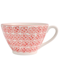 Чашка для завтрака JUMBO CUP FLORAL  CAMPA RED 50CL EARTHENWARE 30316