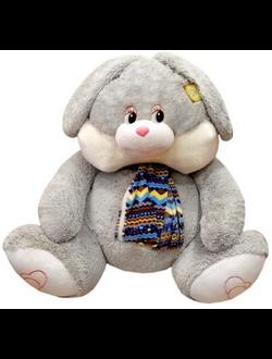Большой плюшевый серый заяц Томас (110 см)