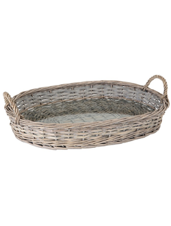 Набор подносов TRAY OVAL JOSEPHINE NATURAL 53X37CM WILLOW+GLASS 29941