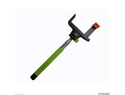 Монопод KJstar Z07-7 с кнопкой фото на ручке (проводной) зеленый.