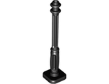 Support 2 x 2 x 7 Lamp Post, 4 Base Flutes, Black (11062 / 6022202 / 6132809)