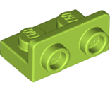 Bracket 1 x 2 - 1 x 2 Inverted, Lime (99780 / 6218266)