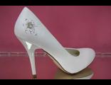 Свадебные туфли айвори стразы вышивка бисер средний каблук кожаные модные купить магазин сайт фото