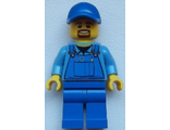 Overalls with Tools in Pocket Blue, Blue Cap with Hole, Brown Moustache and Goatee, n/a (cty0574)