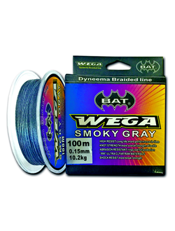 Плетеный шнур BAT WEGA SMOKY GRAY 100м