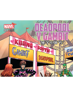 Deadpool v Gambit #1 Variant Cover by Tim Seeley