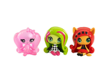 Мини-фигурки Monster High Minis Getting Ghostly Draculaura, Circus Ghouls Venus McFlytrap & Original Ghouls Toralei Figure/ Комплект из 3-ех мини-фигурок Дракулаура, Венера и Торалей