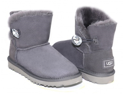 UGG MINI BAILEY BUTTON BLING GREY Женские (36-40)