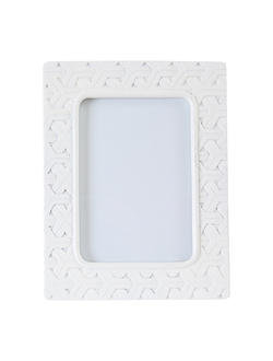 Фоторамка 19.5X24CM PHOTO FRAME MAYA WHITE  POLYRESIN 29957