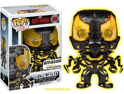 Funko POP Movies: Ant-Man Glow in The Dark Yellow Jacket Action Figure (Amazon Exclusive) -  ФАНКО П