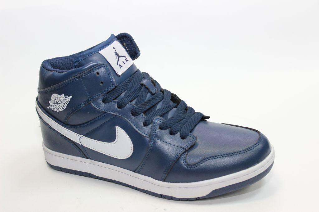 1bbf373b7876 Nike Air Jordan синие с белым,кожа нат.мех (41-46) Арт. 023М. Каталог · Зимние  кроссовки