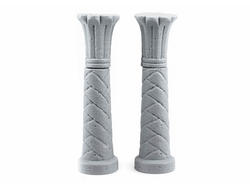 Four ancient pilasters (unpainted)