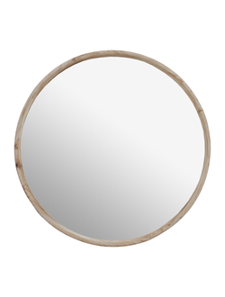 Зеркало круглое MIRROR ODINE NATURAL D60CM FIR WOOD+MIRRORарт.31870