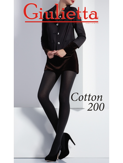 "Колготки женские """"Giulietta""  Cotton 200 Den хлопок"