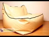 Бескаркасный насыпной диван Lounge 110*110*90, экокожа