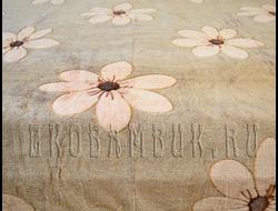 Плед из бамбука Soft Line Евро Цветочки песочные