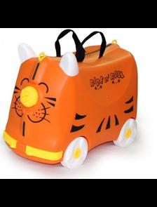 Детский чемодан-тележка на 4 колесах RIDE n ' ROLL / Райд н'  Ролл оранжевый