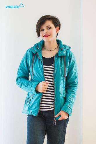 Sea-green transformer jacket 3-in-1