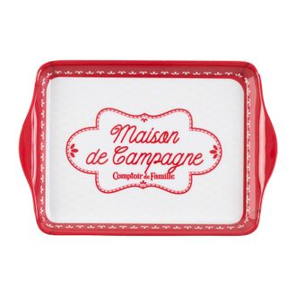 Поднос 200536 TRAY CAMPAGNE ETE-FERME RED 21X14CM MELAMINE