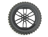 Wheel 75mm D. x 17mm Motorcycle with Black Tire 100.6mm D. Motorcycle 88517 / 11957, Black (88517c02)