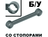 ! Б/У - Technic, Link 1 x 6 with Stoppers, Dark Bluish Gray (2739b / 4211026 / 4629920) - Б/У
