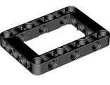 Technic, Liftarm 5 x 7 Open Center Frame Thick, Black (64179 / 6016154)