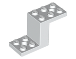 Bracket 5 x 2 x 2 1/3 with 2 Holes and Bottom Stud Holder, White (76766 / 6310374)