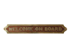 "Табличка ""Welcome on board"""