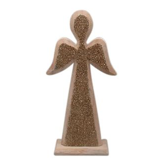 Ангел фигурка декоративная  DECORATIVE ANGEL STRASSI GOLD 14X5X30CMарт.31597