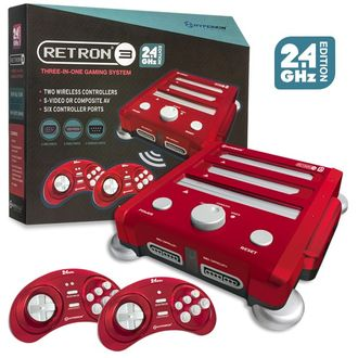 Обновленный Retron 3 (NES, SNES, SEGA) 2.4 GHz Edition (Laser Red)